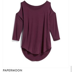 Papermoon cold shoulder top